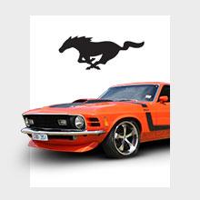 Orange Mach 1 Mustang